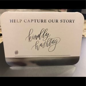 David Tutera Photo Hashtag Tent Card Box of 25 NIB